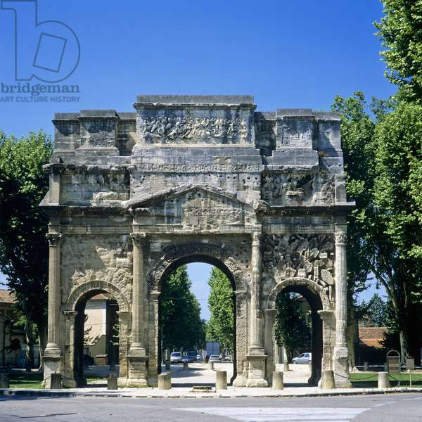 View of the Triumphal Arch, Orange, France (photo)