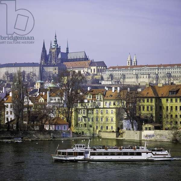 Tour Boat on Vitava River, Prague, Czech Republic (photo)