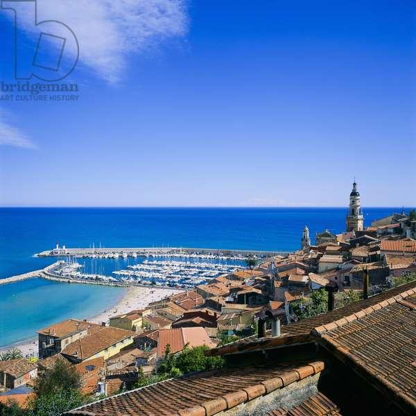 View of Menton, Cote d'Azur, France (photo)