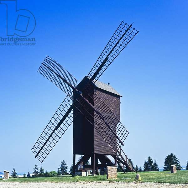 View of the Moulin de Valmy, Champagne, France (photo)