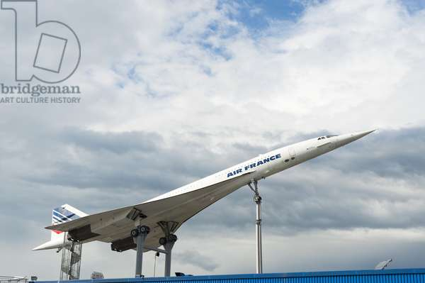 View of an Air France Concorde at the Auto and Technik Museum, Sinsheim, Baden-Wurttemberg, Germany (photo)