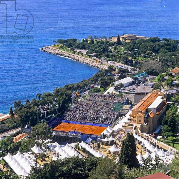 View of the Tennis Country Club, Monte Carlo, Monaco (photo)
