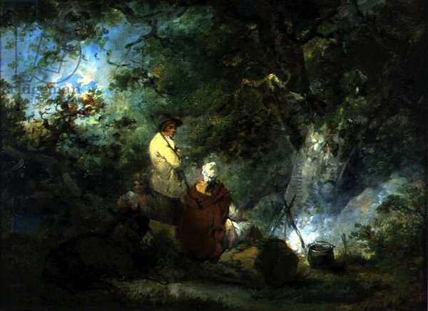 Gypsies by a Campfire, 1792 (oil on canvas)