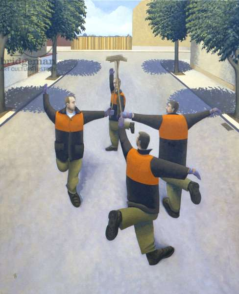 The Sweepers Dance, 1996 (oil on linen)