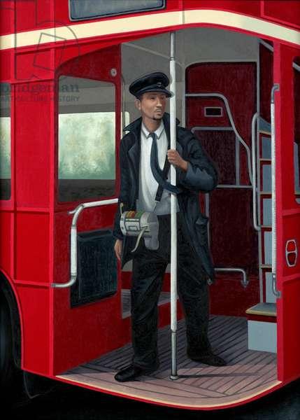 Departure: The Last Bus, 2005 (oil on linen)