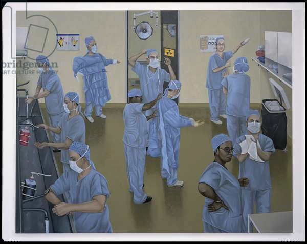 Theatre Prep, 2002 (oil on linen)