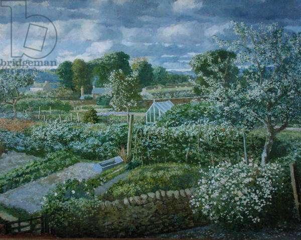 The Kitchen Garden in Spring, 1947 (oil on canvas)