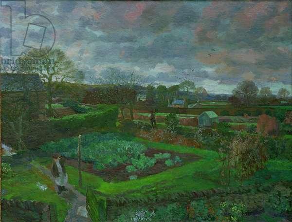 The Kitchen Garden in Autumn, 1947 (oil on canvas)