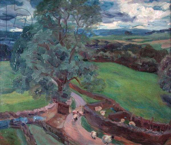 View from the Fell Road, 1957 (oil on canvas)