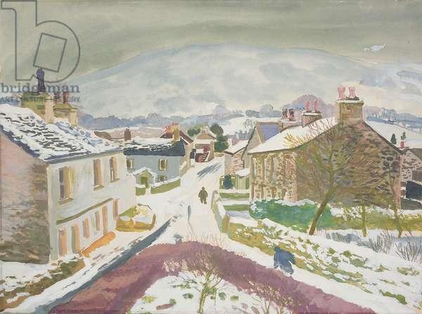 Barbon in the Snow, 1952 (gouache on card)