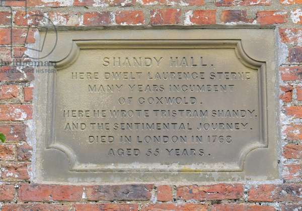 Plaque, Shandy Hall (photo)