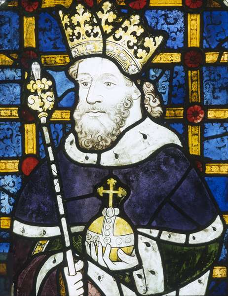 Window depicting King Henry III, from the Great West Window (stained glass)