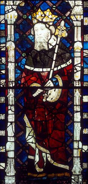 Window depicting King Harold, from the Great West Window (stained glass)