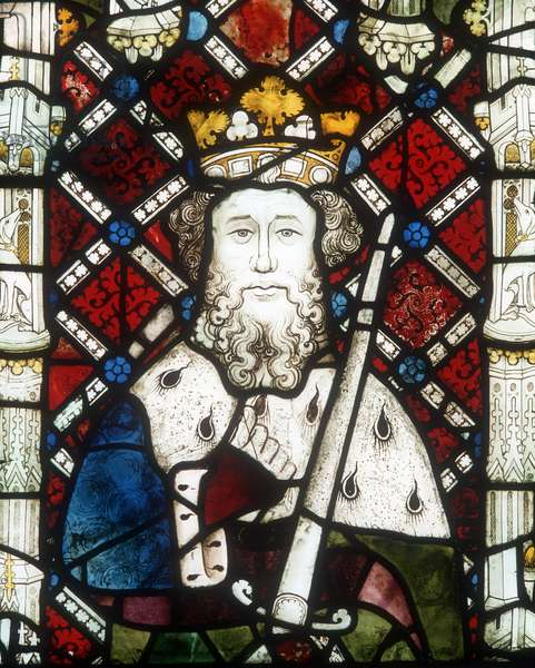 Window depicting King Edward the Confessor, from the Great West Window (stained glass)