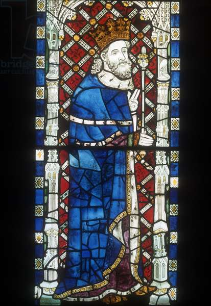 Window depicting King William II, from the Great West Window (stained glass)