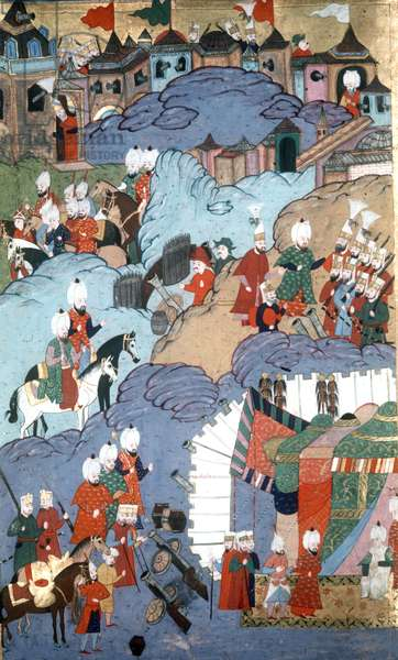 Van Castle, taken by Suleyman I, Ottoman sultan 1520-1566, on his return from Tebriz in Persia
