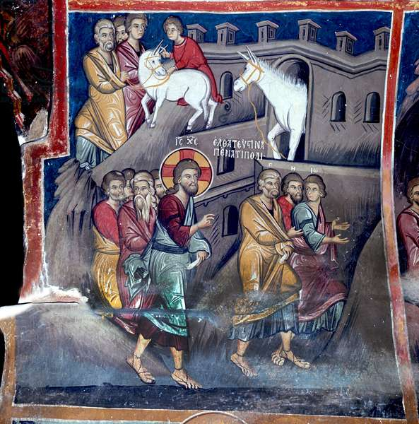 The Disciples find the Donkey and Colt (wall painting)