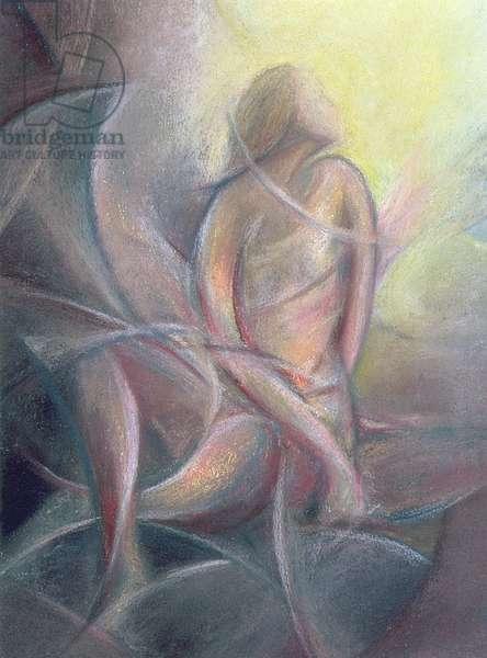 Annunciation, 1994 (pastel on handmade paper)