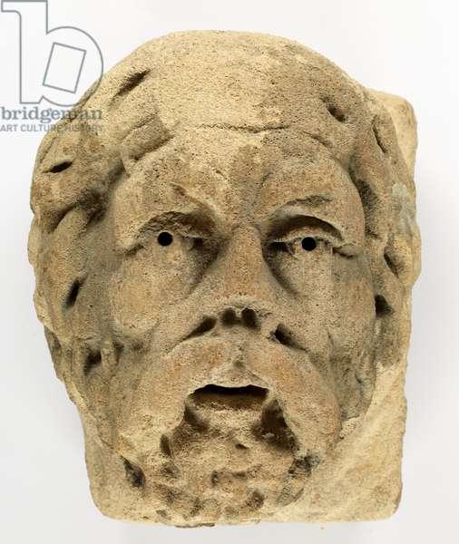 Carved Medieval head, 1066-1485 (stone)