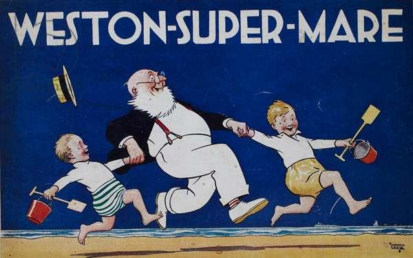 Weston-Super-Mare, 1927 (colour litho)
