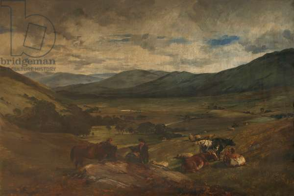 In the Highlands, c.1847-70 (oil on canvas)