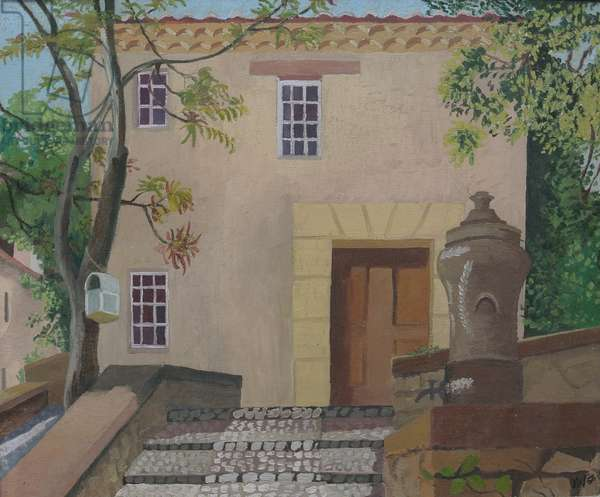 House designed by Fernand Pouillon, 1956 (oil on canvas)