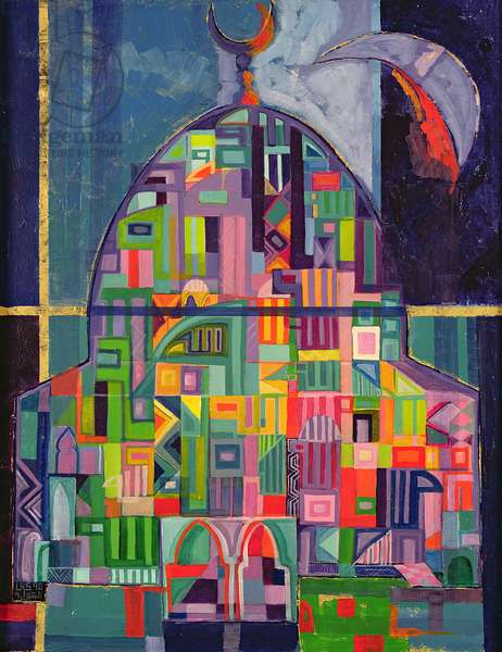 The House of God, 1993-94 (acrylic & gold pigment on canvas)