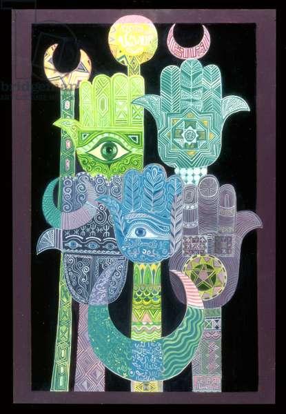 Standards (Alams in Arabic) 1992 (acrylic on board)