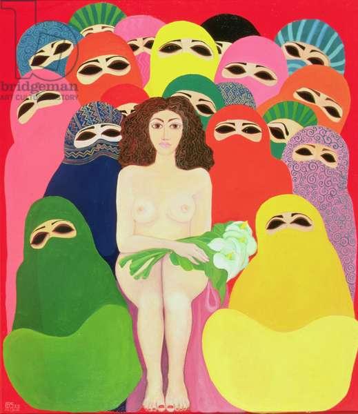 Bride of Galilee, 1989 (acrylic on canvas)