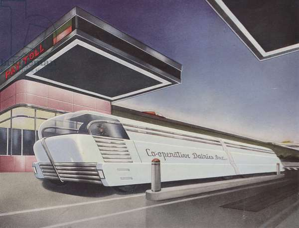 Illustration Of A Futuristic Bulk Milk Hauler