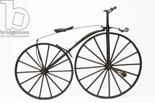 A Velocipede Early Bicycle, mid to late 1800s (photo)