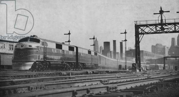 The Royal Blue Train Of The Baltimore And Ohio Railroad Leaving Jersey City Terminal