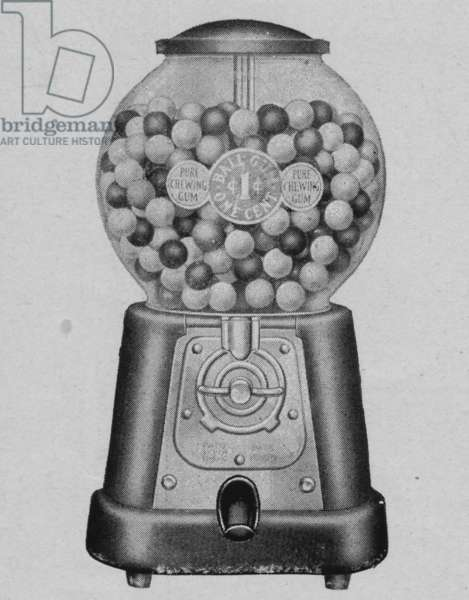An Advance Machine Company Model 'D' Ball Gum Vendor, 1932 (litho)
