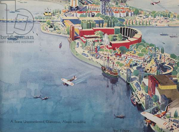 Aerial View Of The Century Of Progress, 1933 (colour litho)