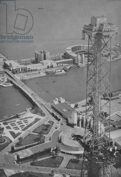 Sky Ride from the air at The Century of Progress, 1933 (b/w photo)