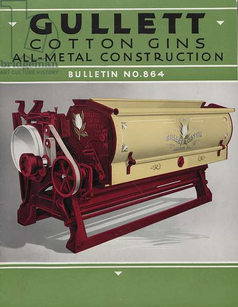 Gullett Cotton Gins All-Metal Construction, c.1920s (colour litho)