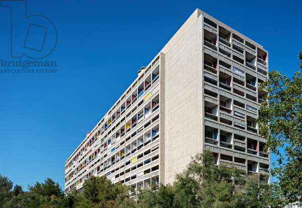 Unité d'habitation/Cité Radieuse designed by Le Corbusier, Marseille, France (photo)