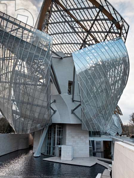 Detail of the East side, Fondation Louis Vuitton project by Frank Owen Gehry, Paris, France (photo)