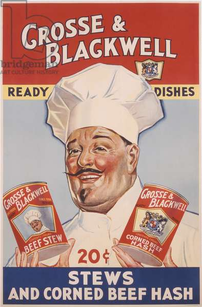 Advertisement for Crosse & Blackwell Ready Dishes, printed by The American Litho Co., New York, c.1940 (colour litho)