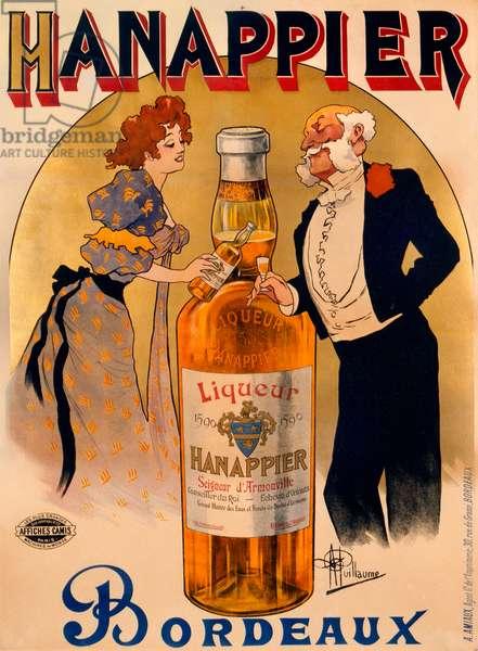 Hanappier Bordeaux, 1900 (colour litho)