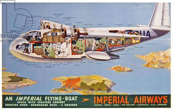 Imperial Airways - An Imperial Flying Boat, 1939 (colour litho)