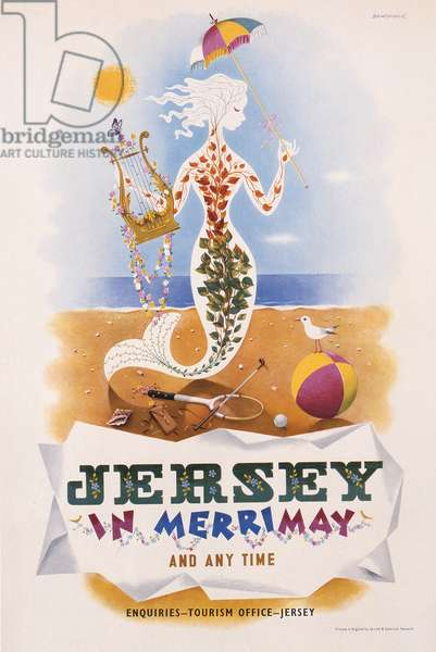 Advertisement for Jersey, c.1935 (colour litho)