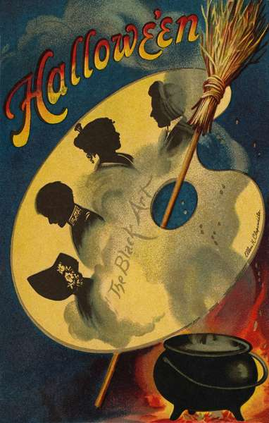 Halloween, the Black Art, 1912 (colour litho)