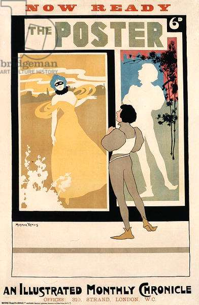 Front cover of 'The Poster, An Illustrated Monthly Chronicle', printed by David Allen and Sons, London, c.1900 (colour litho)