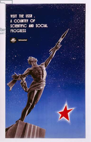Visit the USSR, 1963 (colour litho)