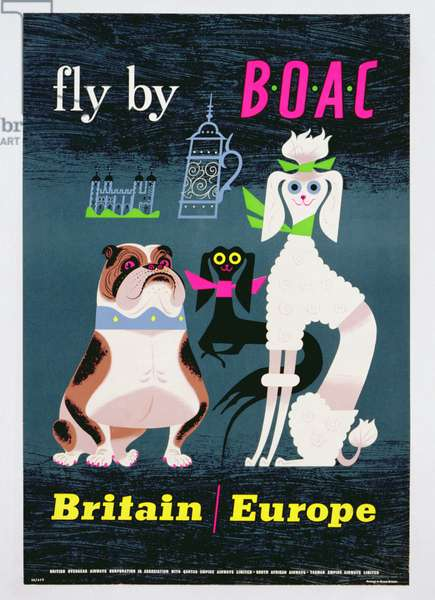 Poster advertising British Overseas Airways, c.1962 (colour litho)