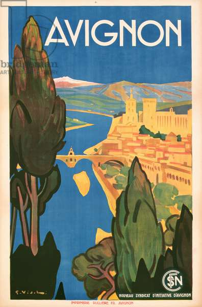 Poster promoting Avignon, c.1928 (colour litho)