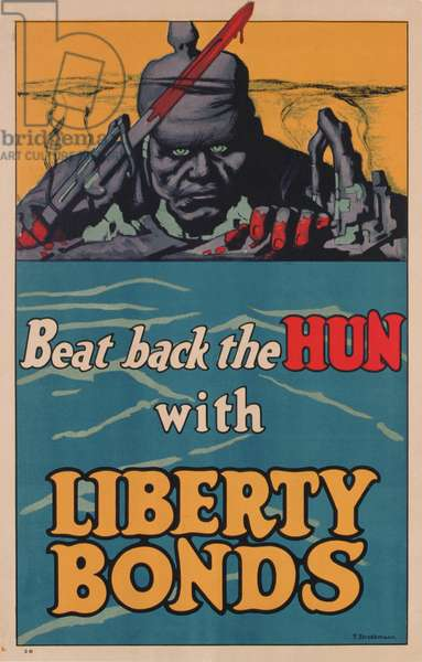 Poster advertising American 'Liberty Bonds', 1917-18 (colour litho)