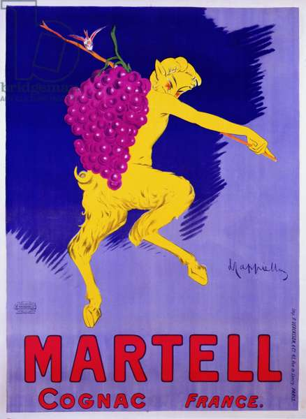 Poster advertising Martell Cognac, printed by Vercasson, Paris, c.1920 (colour litho)