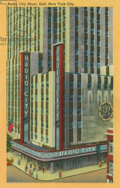 Radio City Music Hall, New York City. c.1940 (colour litho)